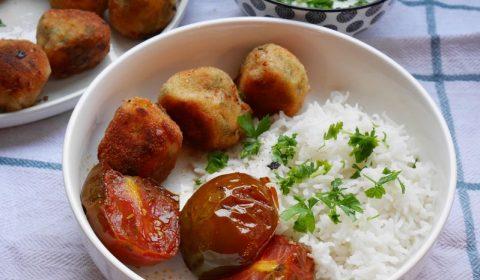 boulettes de saumon à la coriandre