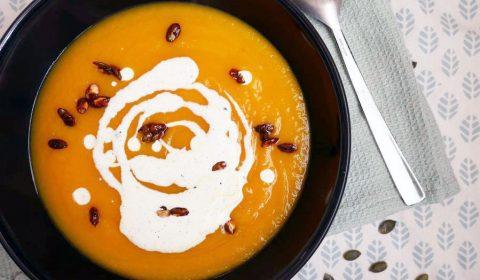 Soupe de potiron et crème vanillée