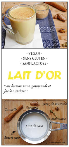 Golden lattou ou lait d'or #goldenmilk #curcuma #tumeric