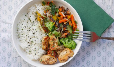 Bowl au poulet cajun : healthy et gourmand