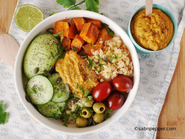 Un Buddha bowl vegan facile ! Une recette à IG bas