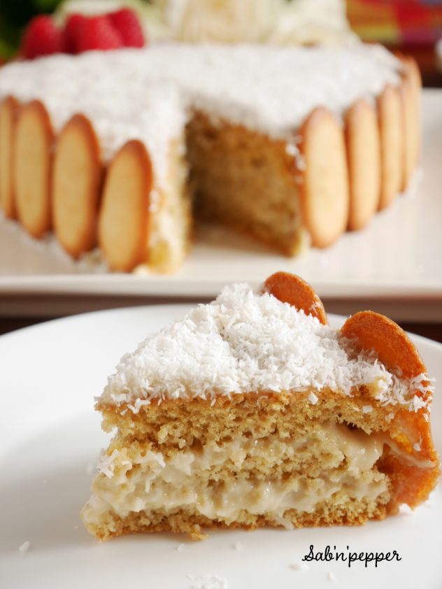 Gâteau antillais : le mont-blanc