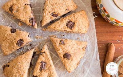 Scones chocolat noix de coco : healthy et gourmands