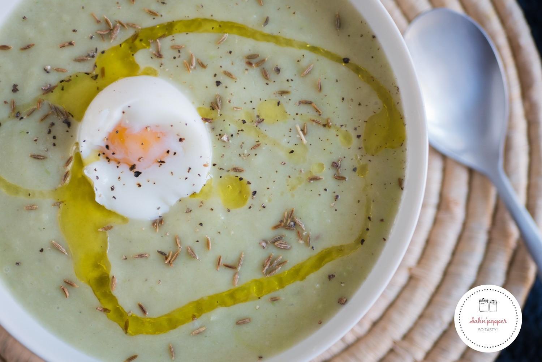 Soupe poireaux panais au cumin