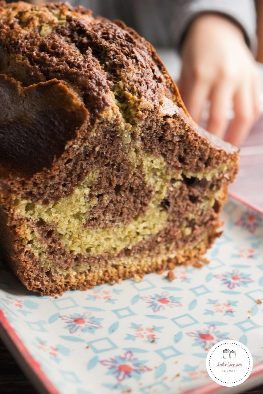 Ce gâteau marbré chocolat pistache est très facile à réaliser #gateaumarbré #gateaufacile #gateaumarbréchocolatpistache