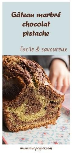 Gâteau marbré chocolat pistache : la recette facile