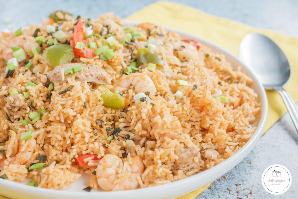 Une recette de jambalaya poulet et crevettes très facile à réaliser #jambalaya #recettejambalaya #jambalayapoulet #jambalayacrevettes