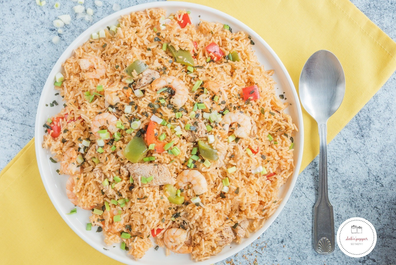 Ma recette de jambalaya poulet crevettes : facile et rapide #jambalaya #recettejambalaya #jambalayapoulet #jambalayacrevettes