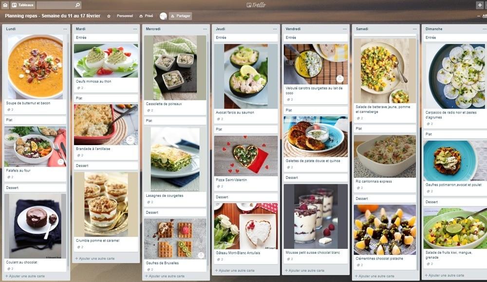 Planning des repas de la semaine 7 #planningrepas #repas #repasdelasemaine #mealplanning #mealplan #mealplans