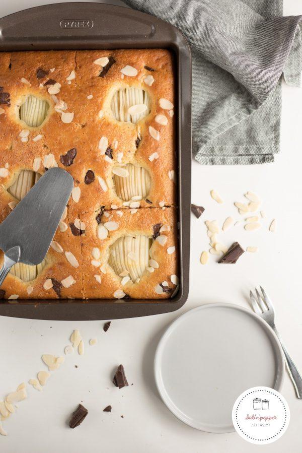 Gâteau poire chocolat amande : une version gourmande du gâteau au yaourt