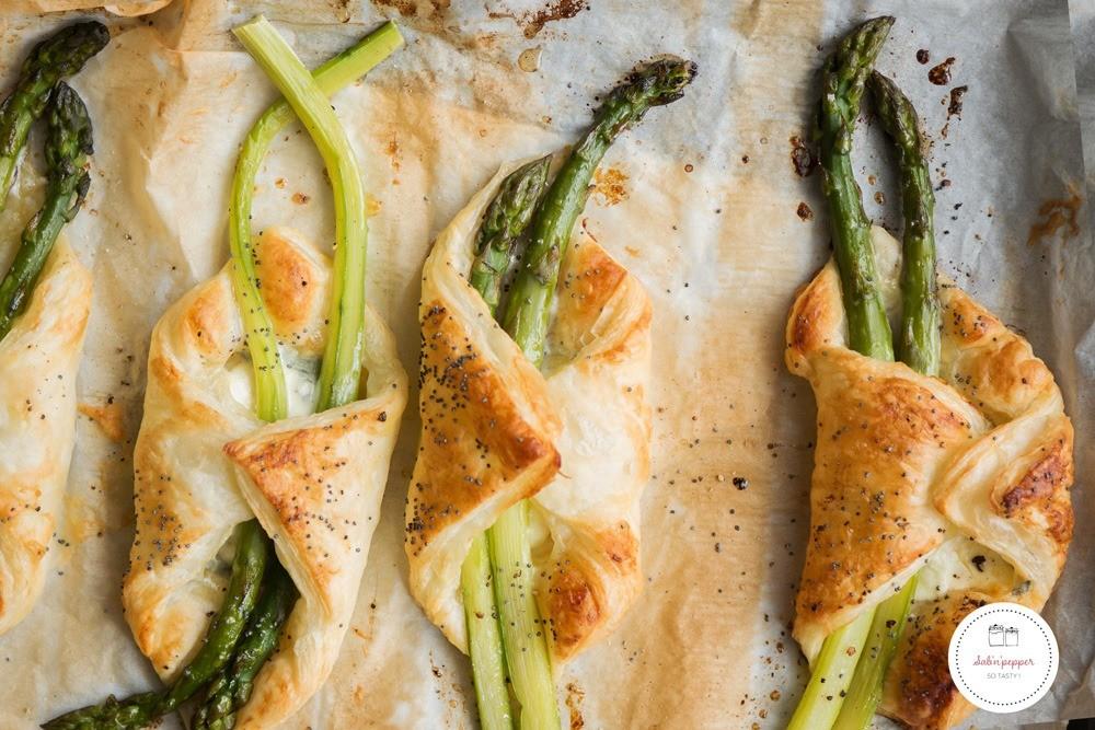 Cette recette de feuilleté aux asperges vertes est facile et savoureuse #recettefacile #aspergesvertes #recetteaspergesvertes