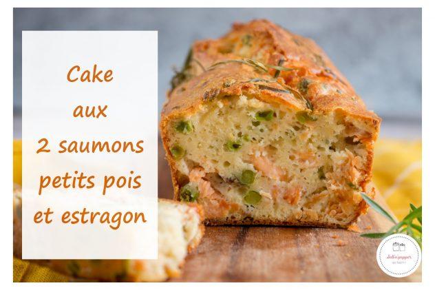 Cake aux 2 saumons petits pois et estragon : parfait pour l'apéro ! #cake #saumon #recettefacile