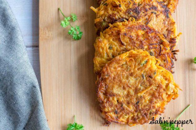 Galettes de butternut : des rosti origninaux pour faire manger des légumes aux enfants #recette #butternut #recettefacile