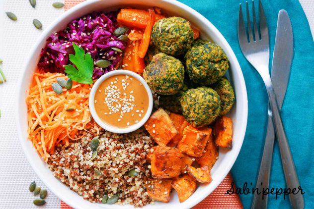 Falafels aux épinards : une recette healthy ultra-facile #falafels #recette #recettefacile #epinard #recettedesaison #falafelbowl