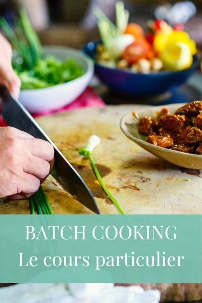 batch cooking - cours particulier