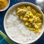 La recette du Colombo de poulet à la mangue express #cuisinecreole #cuisine #recetteantillaise
