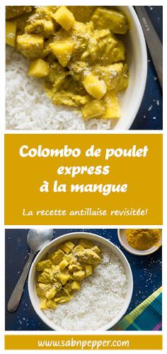 Colombo de poulet à la mangue express #cuisinecreole #cuisine #recetteantillaise