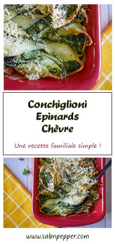 Conchiglioni épinards ricotta : une recette familiale simple et efficace ! #recette #recettefacile #conchiglioni