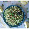 Green taboulé : pour faire le plein de vitamines ! Courgettrs, concombre, pomme.. Un vrai régal ! #healthyfood #salade #printemps #recettequinoa