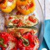légumes farcis végétariens : une recette familiale facile #poivrons #recettepoivrons #poivronsfarcis