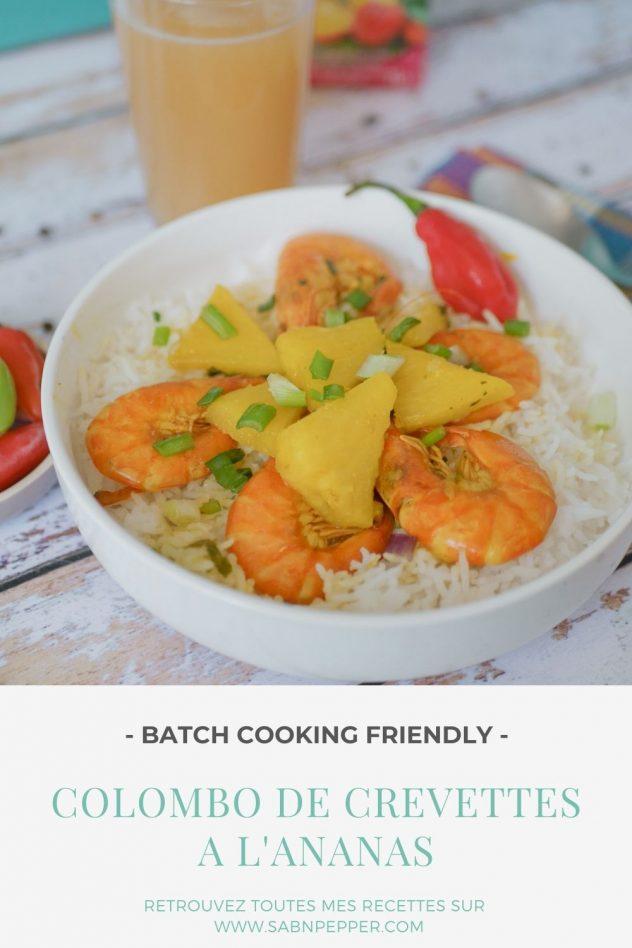 Colombo de crevettes antillais à l'ananas : une recette ensoleillée facile