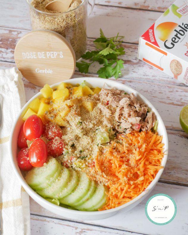 Poke bowl thon mangue passion : une recette healthy et facile parfaite pour un rééquilibrage alimentaire !