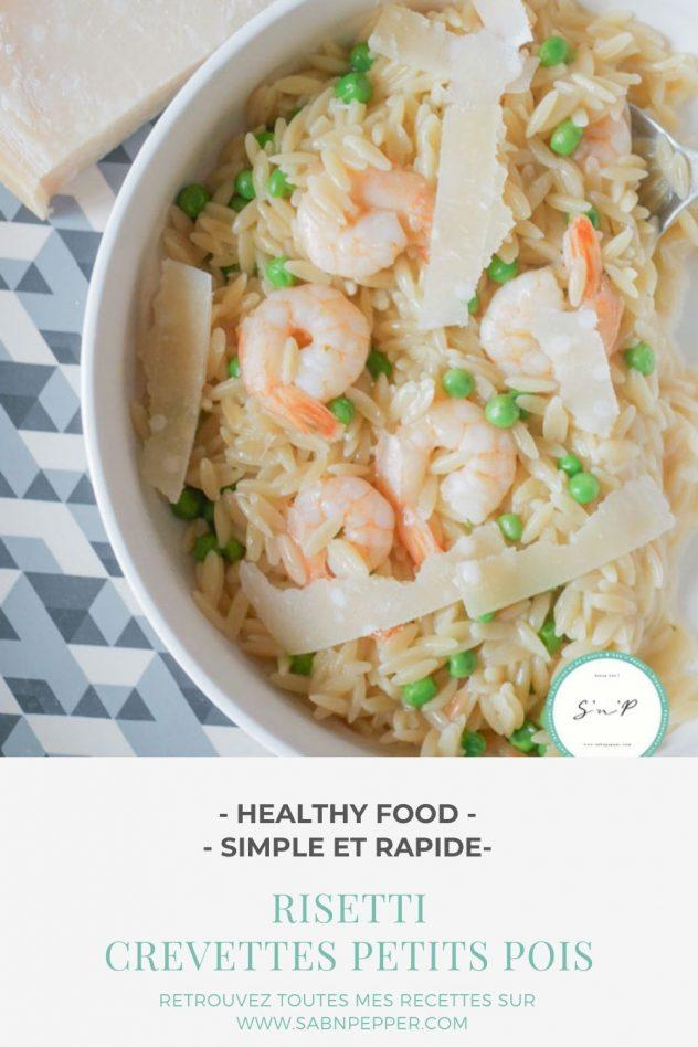 Recette risetti crevettes petites pois : une recette rapide et savoureuse