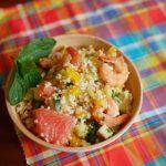 Taboulé aux crevettes et aux agrumes : une recette toute en fraîcheur et en légèreté