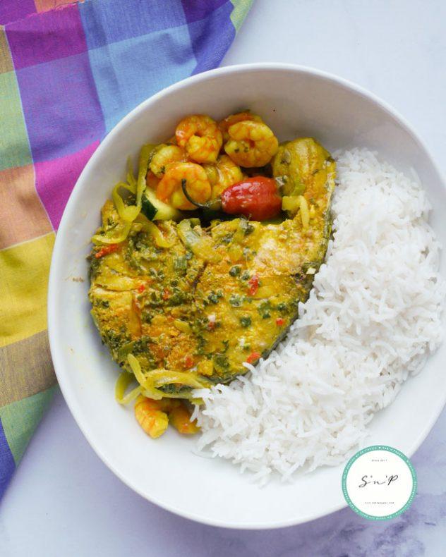 Colombo de poisson réalisé lors de mon batch cooking antillais